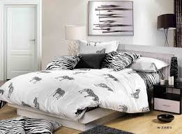 new hot ing black white zebra stripe plaid leopard print cotton full queen size bed linen bedclothes bedding