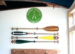 decorative boat oars on wall wood paddle hanger o walnut wood artisan painted canoe paddle oar wall decor hanger
