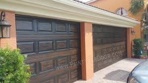 painting metal garage doors to look like wood door ideas