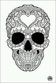 Tatouage simple skull tattoo image with heart skull death