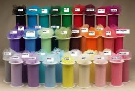 Tulle Color Chart Little Britches Boutique