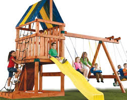 wooden playsets for kids the alpine swing set kit good value for money