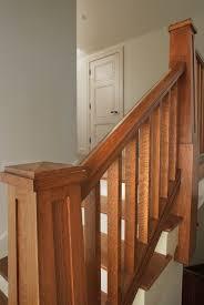 Custom Newel Post Custom Craftsman Quartersawn White Oak Handrail Square Balusters