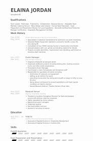Hotel Job Resume Format Lovely Banquet Server Resume Samples ...