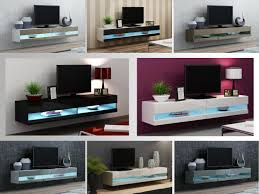 Floating Tv Stand Tv Stand Cabinet With Led Lights High Gloss Entertainment