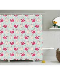 fun shower curtains for adults. Fun Shower Curtain Cute Happy Whales Pattern Print For Bathroom Curtains Adults