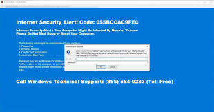 internet security alert tech support scam