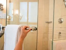 this type of glass shower door generally doesn t have a frame and is positioned to swing open just like any other door in your home