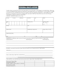 Personal Health Record Forms Personal Medical History Form Template Elegant Record Health