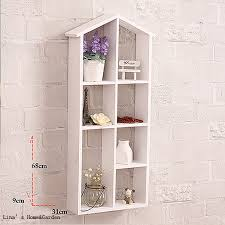 Small Picture Aliexpresscom Buy Handmade Simple Design White Wood House Shelf