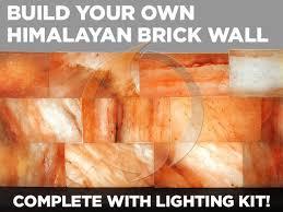 Where To Buy Himalayan Salt Lamp Mesmerizing Himalayan Salt Brick Wall With Lighting Kit 60 Bricks Spiritual