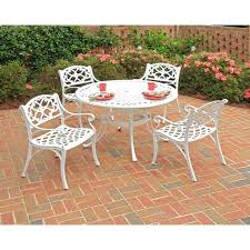 5 piece patio dining sets under 300 home styles inch 5 piece white cast aluminum patio