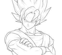 Goku Coloring Pages Super Saiyan Chronicles Network