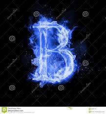 Light Blue B Fire Letter B Of Burning Flame Light Stock Illustration