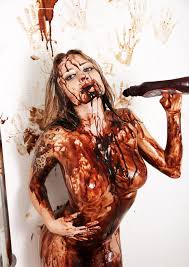Girls covered in food porn