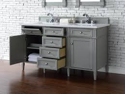 55 inch double sink vanity with baltic brown top and framed bathroom vanity mirrors