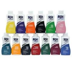 Rit Fabric Dye Color Chart Rit Liquid Dye 34 Colours To Choose From Sew It