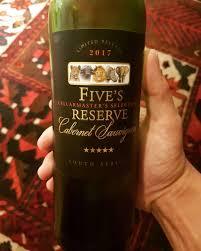 Kết quả hình ảnh cho fives reserve cabernet sauvignon