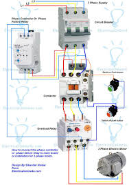 wiring diagram for 230 volt 1 phase motor the in starter 230 3 Phase Motor Wiring phase controller wiring failure relay diagram within 1 motor starter 230 volt 3 phase motor wiring