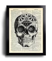 sugar skull art print day of the dead