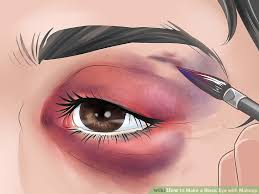 image led make a black eye with makeup step 5
