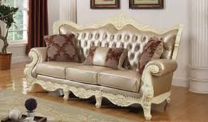 Traditional Living Room Set 674 Madrid Traditional Living Room Set In Rich Pearl White By
