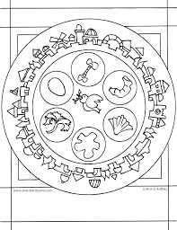 Small Picture Passover Coloring Page