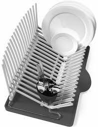 Space Saving Dish Rack Vremi Dish Drying Rack Collapsible Dish Rack And Drainboard Set