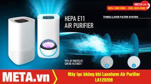 Review máy lọc không khí Lanaform Air Purifier LA120209 - Bộ lọc 3 lớp,  loại bỏ bụi mịn