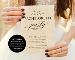 Bachelorette Party Invitation Template Printable Rustic