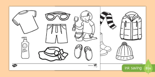 So if you are interested if you have nothing to do, you can just get your printed coloring pages and you can already enjoy for a period of time while doing something creative and fun. Clothes Coloring Pages Teacher Made