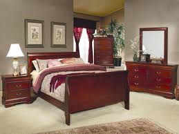 Louis Bedroom Furniture Louis Philippe Sleigh Bedroom Set In Cherry 200431