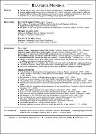 Example Teacher Resume Template