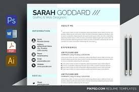 Word Resume Template Free Adorable Clean Resume Template Free Work Word White Trendy Stylish Curriculum