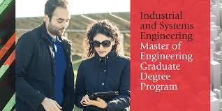 Master Of Engineering Degree In Industrial Engineering