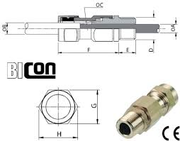 Bicon Cable Gland Selection Chart Bicon Cw 32 Brass Cable Glands Biccon Bicc Prysmian Gland