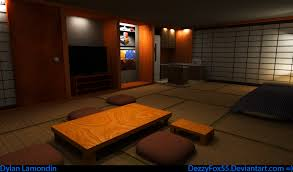 Japanese Themed Room Japanese Themed Interior By Dezzyfox55 On Deviantart