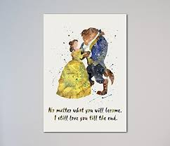 Beauty And The Beast Quotes Best Of Amazon Beauty And The Beast Quote Belle Love Print Handmade