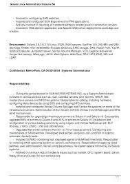 Linux Admin Resume Sample 6 9 7 Administrator Resume Linux System
