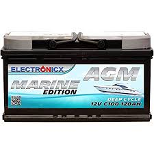 Difference between marine battery and car battery. Agm Battery 120 Ah Electronicx Marine Edition Boat Supply Battery 12 V Deep Boat Battery Car Solar Batteries Amazon De Automotive