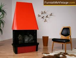 retro red electric fireplace cheminee electric mid century modern electric fireplace