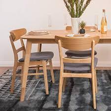 helen mid century modern dining chair set of 2 dark grey w