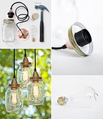 mason jars pendant lamp
