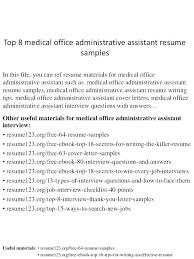 Office Assistant Objective Combination Resume For An Executive Assistant Office