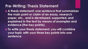 examples of thesis statements for expository essays research paper  the writing process ppt video online how to write a thesis statement for research pape