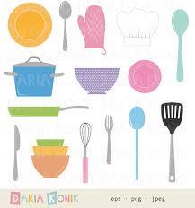 kitchen utensils art. Cooking Clip Art Set Kitchen Clipart Utensils