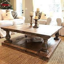 french farmhouse rustic solid oak coffee table farm innovative favorite large