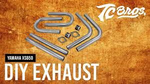 tc bros yamaha xs650 diy exhaust kit youtube
