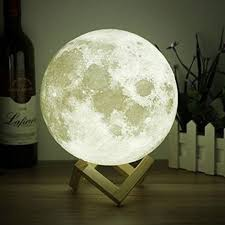 rechargeable luna stepless dimmable warm white touch 3d moon lamp shade new