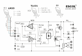 temperature controlled relay circuit temperature controlled relay circuit schematic